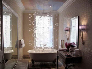 DIY-Bubble-Chandelier-for-Bathroom-Decor