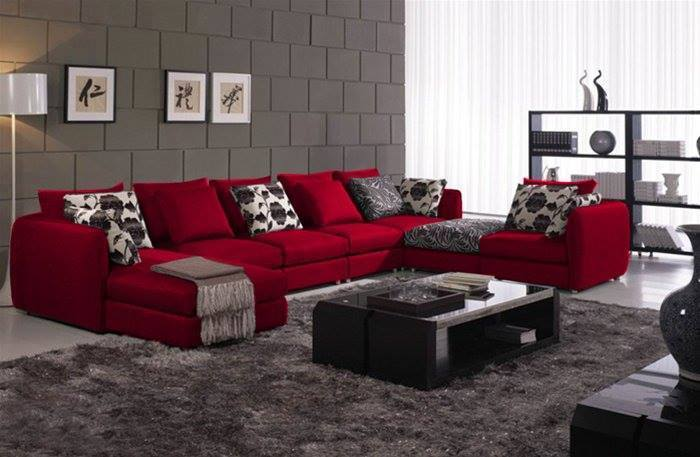 for Red black and grey living room ideas