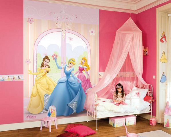 Girls-Themed-Bedroom-Designs-with-certainly-love-everything-about-this-Disney-Princesses