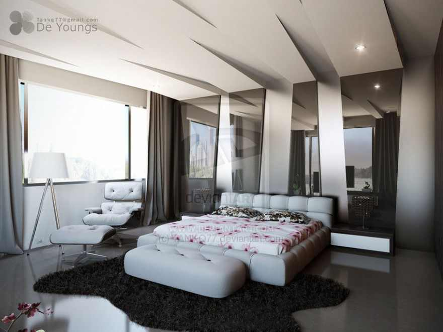 بالصور جبس للغرف Modern pop false ceiling designs for bedroom interior 51