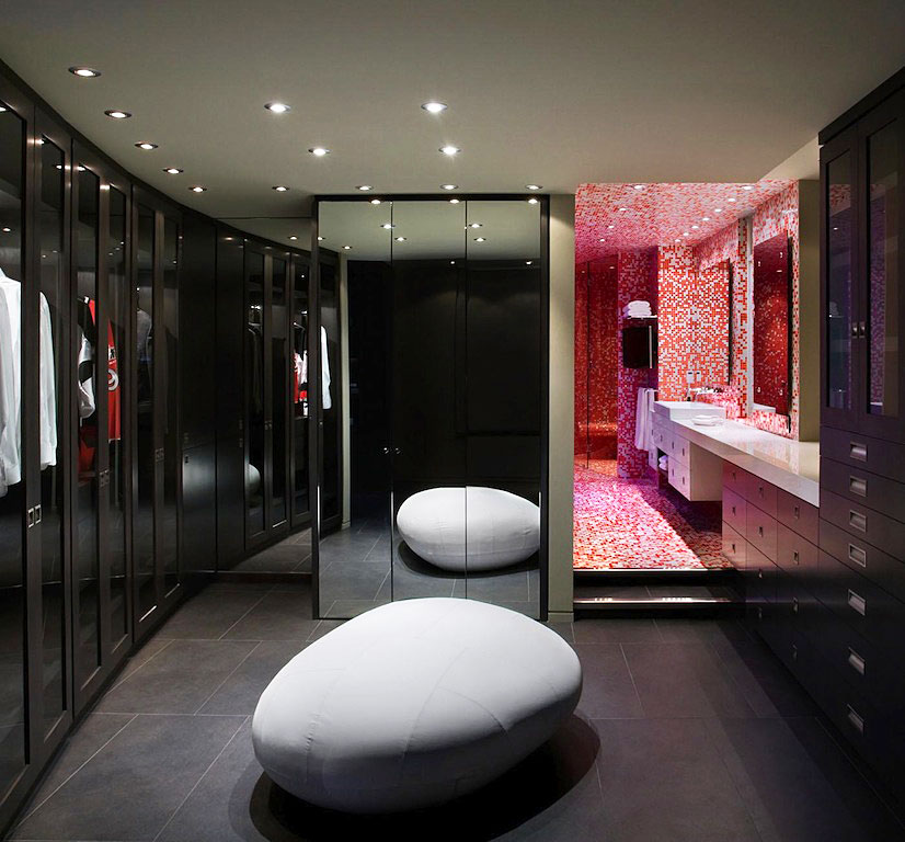 Wonderful-Bathroom-and-Walk-in-Closet-Design-in-Luxury-Yaletown-Penthouse-Applied-Closed-Door-with-Glass-also-with-Mirrored-Door