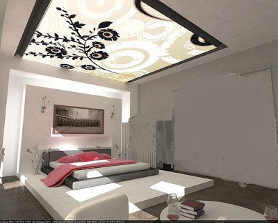 بالصور جبس للغرف decorative lighting bedroom ceiling designs from gypsum and glass1