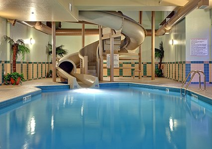 Home indoor pool with slide  inside pool with slides. water slide at splash lagoon indoor water ...
