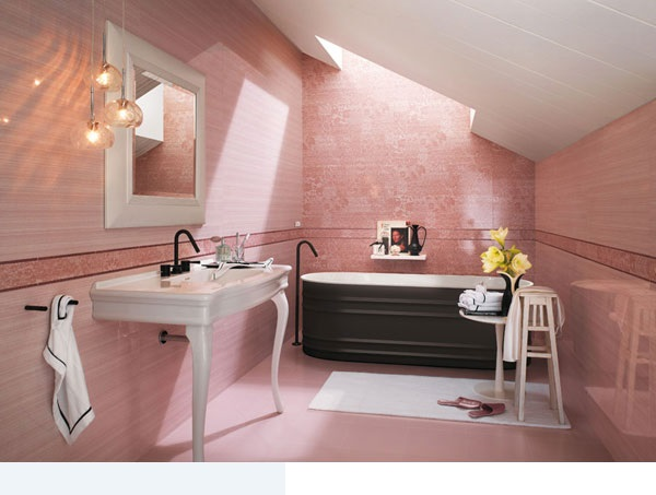 18 for Pink black bathroom ideas