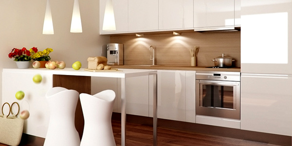- How to decorate a small kitchen space ...
