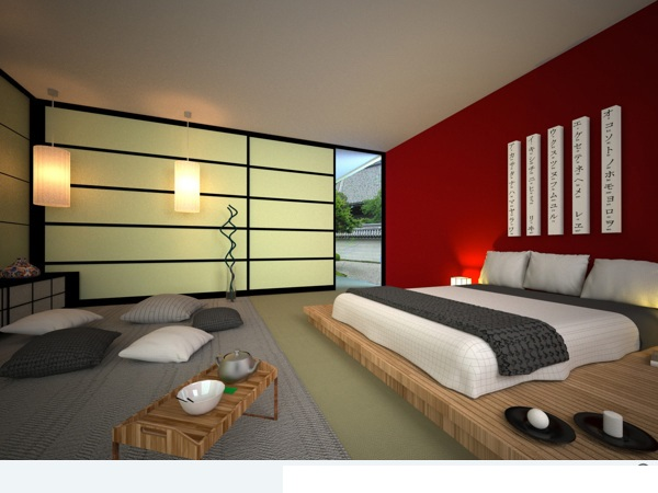 Bedroom Design Japanese Style